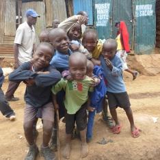 kibera kids posing