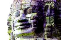 siem reap - angkor thom - bayon 4 - colored-