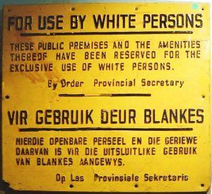 apartheid -
